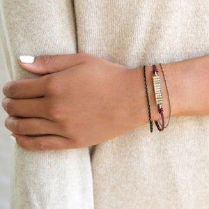 Chloe+ Isabel Leather and Baguette Bracelet